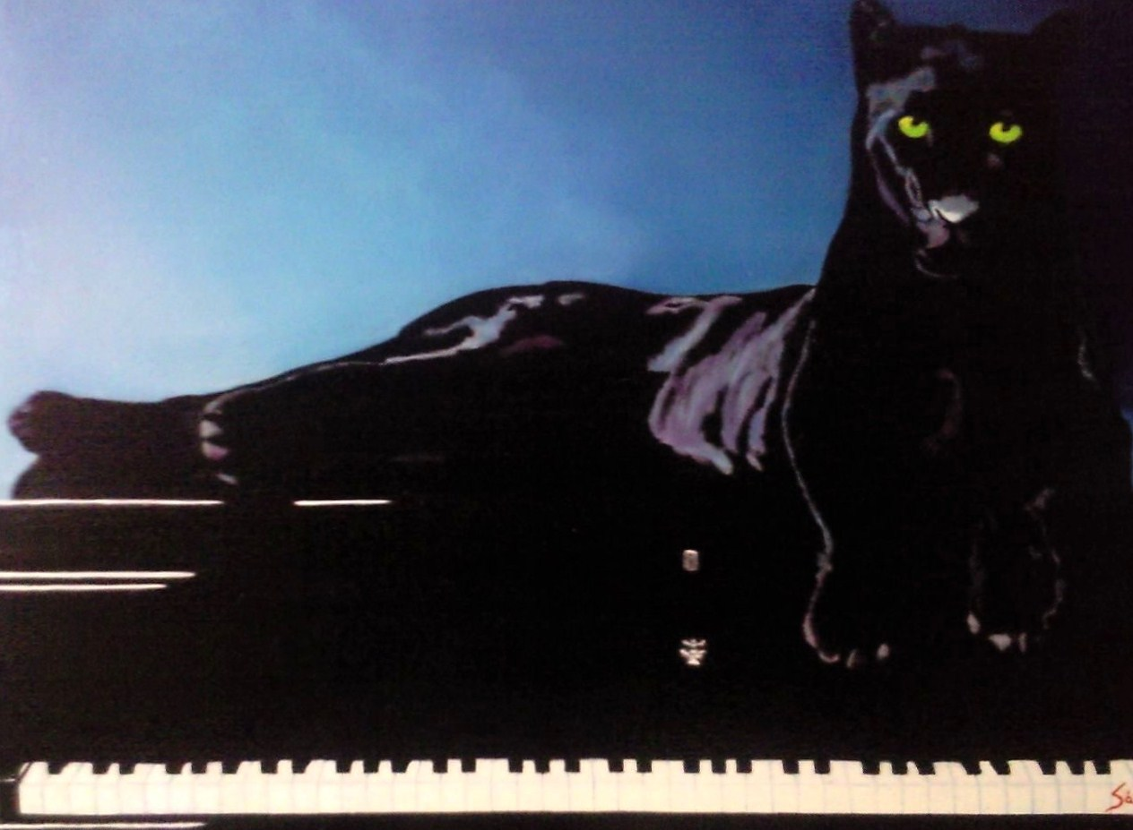 Black Panther and he?s Piano